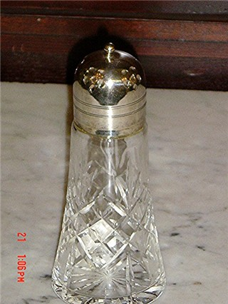 Sugar shaker cut glass