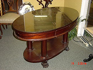 Oval mahogany Empire table