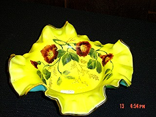 Yellow enamel bowl
