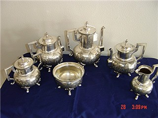 Silverplate Rogers Brothers tea set 1873 - 6 pieces