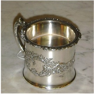 Pairpoint silverplate shaving mug