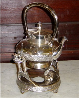 Silverplate hot water kettle Meriden