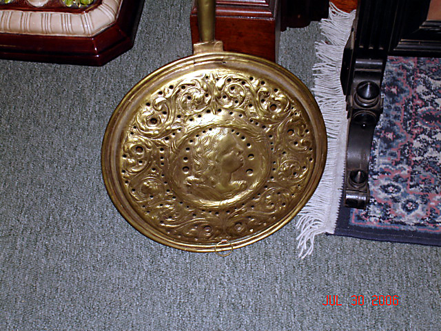 1780 brass bed warmer