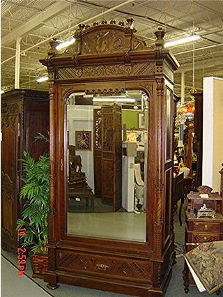 Single Rosewood armoire