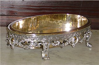 Silverplate jardini�re