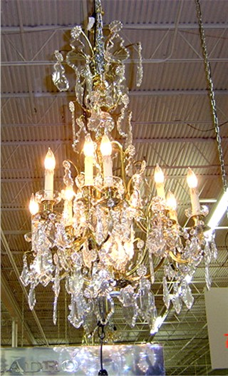 Large chandelier - crystal