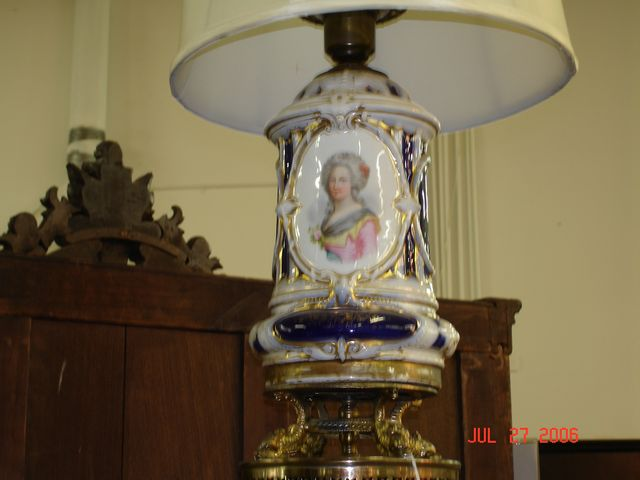 Old Paris portrait lamp