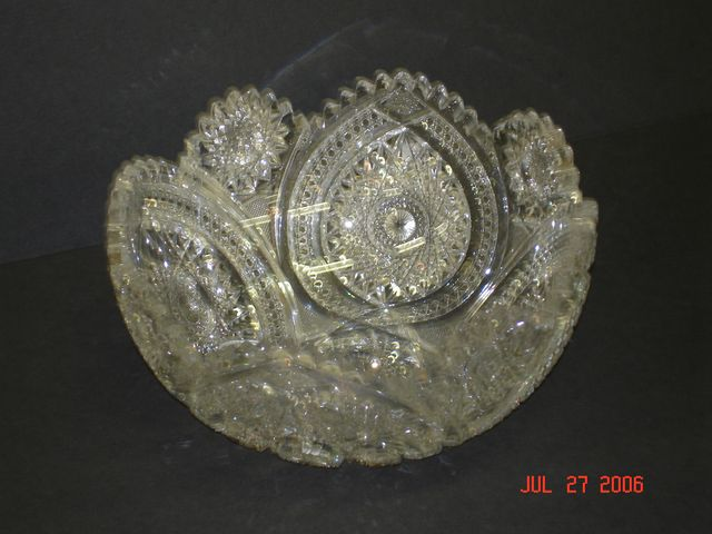 Bowl, cut glass