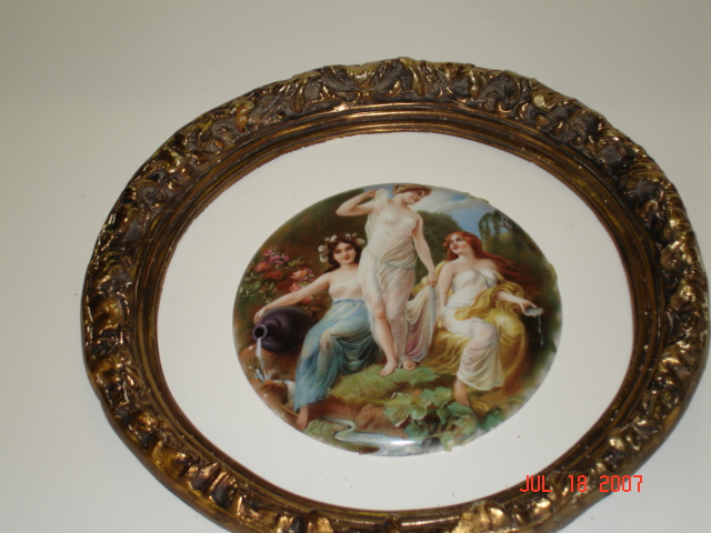 Porcelain plaque